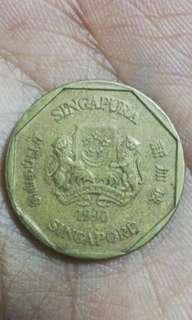 1 DOLLAR SINGAPORE 1990