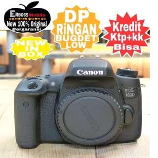 Canon EOS 760D Body Resmi Cash/Kredit Dp 1jt ditoko ktp+kk wa;081905288895