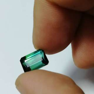 5. 20 crt Blueish Tourmaline Facet Quality loop clean