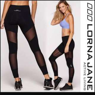 Lorna Jane Black tights size S