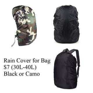 Rain cover for Bag @7/- (Black or Camo)