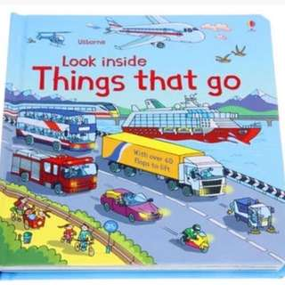 🚚 Usborne Look Inside Things that Go