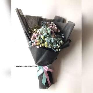 Fresh Flower Bouquet Mixed coloured Rainbow baby's breath bouquet 🌸
