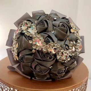Satin hand bouquet
