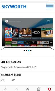 Skyworth 4K UHD 55 inches