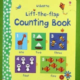 🚚 Usborne Lift-the-Flap Counting Book