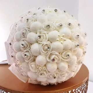Satin hand bouquet
