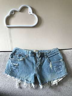 BNWT Sexy Denim Shorts with Hollister label