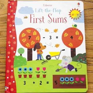 🚚 Usborne Lift-the-Flap first sums