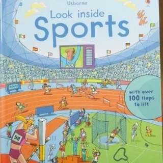 🚚 Usborne Look Inside Sports