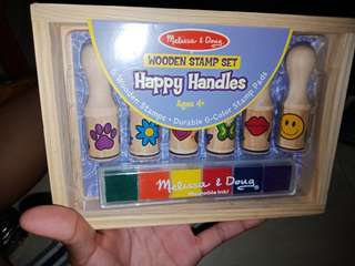 Wooden Stamp Set Happy Handles