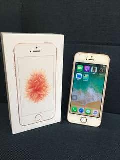 🚚 iphone SE 64G玫瑰金 二手美機 粉色