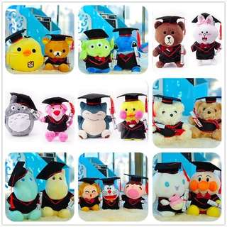 Assorted Graduation Plush Toys