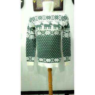 Sweater Rajut Pria Abu Muda - Murah!