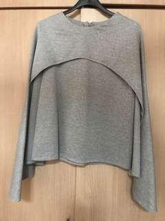 Grey Cape Top