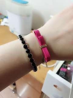 粉紅色蝴蝶結🎀手鈪
