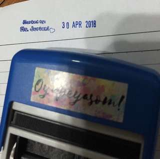 Customised Self-inking Date Stamp
