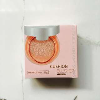 miniso cushion blusher coral red