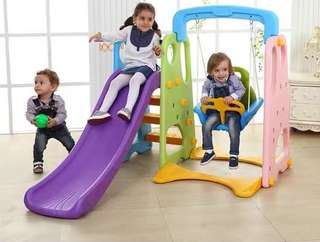 Free shipping 3-in-1 slide swing playground