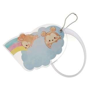 Japan Disney Store Disney Ufufy Mickey & Minnie Mouse Rainbow Sliding type Hand Mirror
