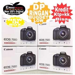 Canon EOS 750D Kit 18-55mm Resmi Cash/Kredit Dp 1jt ditoko ktp+kk wa;081905288895