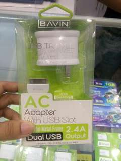 IPhone 4s + Bavin Dual USB Charger