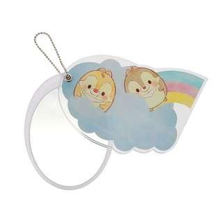 Japan Disneystore Disney Store Disney Ufufy Chip & Dale Rainbow Slide type Hand Mirror
