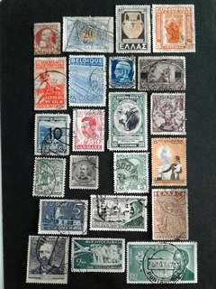 World vintage stamps#2