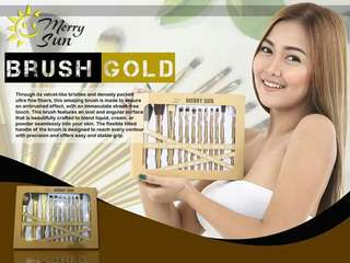 💝 MERRY SUN GOLD BRUSH SET 💝
