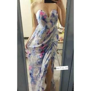 Printed maxi dress 💕
