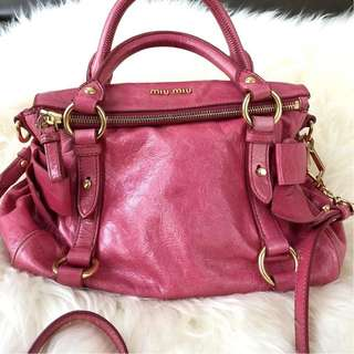 Miu Miu Full Leather Small Bow Bag