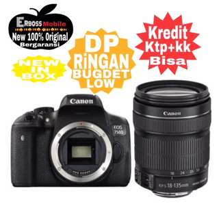 Canon EOS 750D Kit 18-135mm Wifi Cash/Kredit Dp 2jt ditoko ktp+kk wa;081905288895