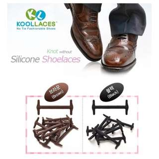 [FORMAL] Korea No-Tie Silicon Shoelaces / Tali Sepatu Silikon Korea