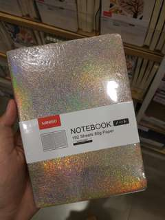 [JASTIP Miniso] Hologram Color Note Book