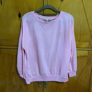 Pink sweater 套頭長袖衫
