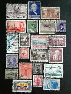 World vintage stamps#3