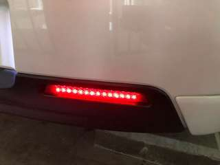 Mazda 3 rear bumper LED reflector