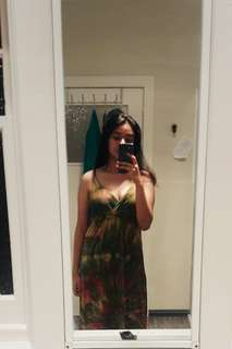 Tiedye long maxi dress