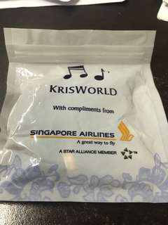 Earphones Singapore Airlines