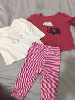 Baby gap long sleeve shirt and carter's legging