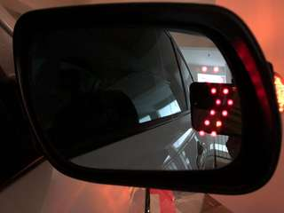 Mazda 3 blue tint side mirror with LED