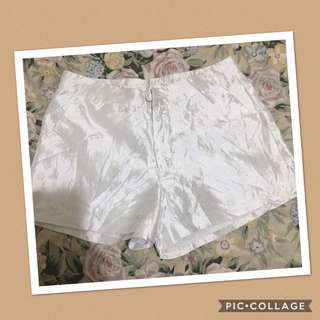 HW embroided white shorts