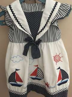 Navy Blue Nautical Themed Dress