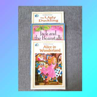 BOOK BUNDLE: CHILDREN'S FAVORITE BOOKS (THE UGLY DUCKLING, JACK AND THE BEANSTALK, ALICE IN WONDERLAND)