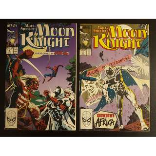 Moon Knight #2 & #3 (1989) Set of 2 Books (Guest-starring SPIDERMAN!)