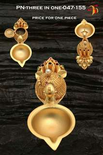 Gold plated Pooja things