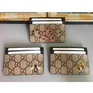 ✔️ Gucci GG Supreme card case Kingsnake, Tiger, Bee