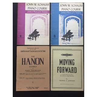 4 Piano Books