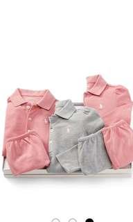 全新polo Ralph Lauren 三件組女童裝