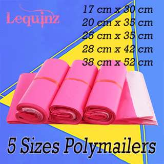 Pink Polymailer Bags Parcels Shoes Clothes